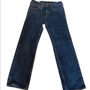 BOYS ABERCROMBIE Classic Straight Stonewashed Jean